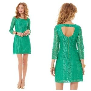 LILLY PULITZER Camellia Lace Cutout Back Dress 10